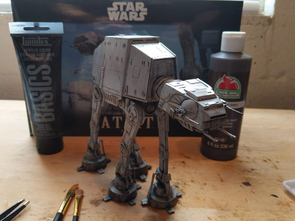 freshly painted and weathered AT-AT model