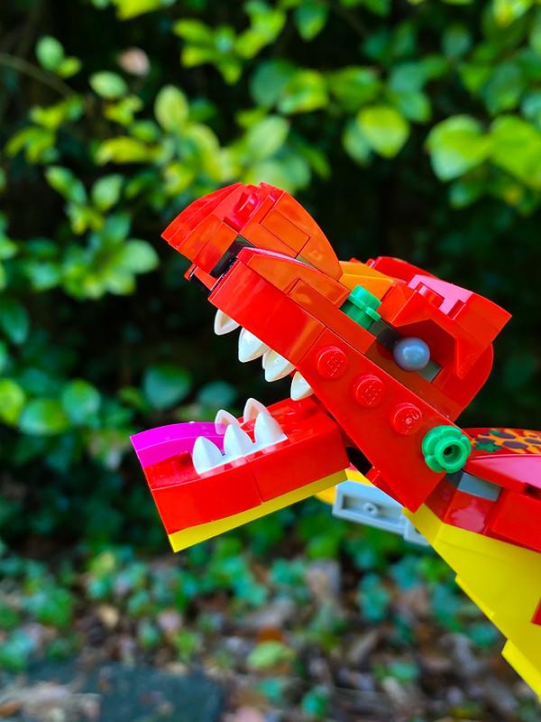 LEGO Dinosaur roaring
