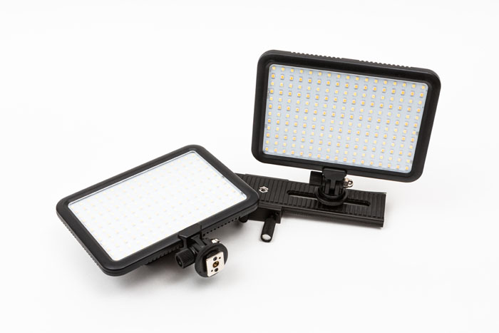 Two LED Panels and mounting rail