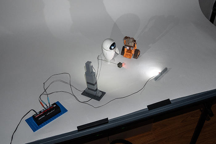 BTS of the shooting surface and placement of individual LEDs and controller for second reference photo.