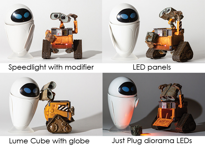 four lighting sources example images