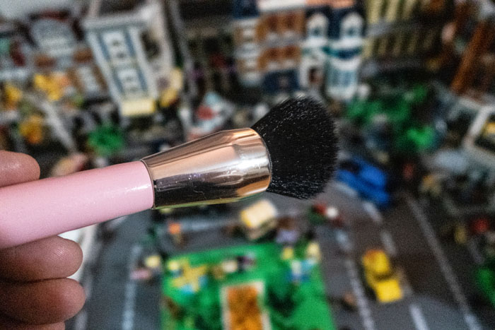 Makeup brush works great for dusting LEGO