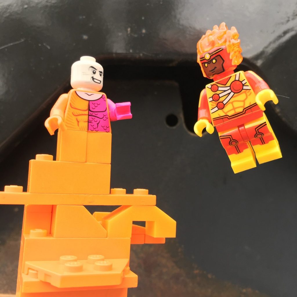 Photo by Adam Ford: LEGO DC superheroes Firestorm and Metamorpho