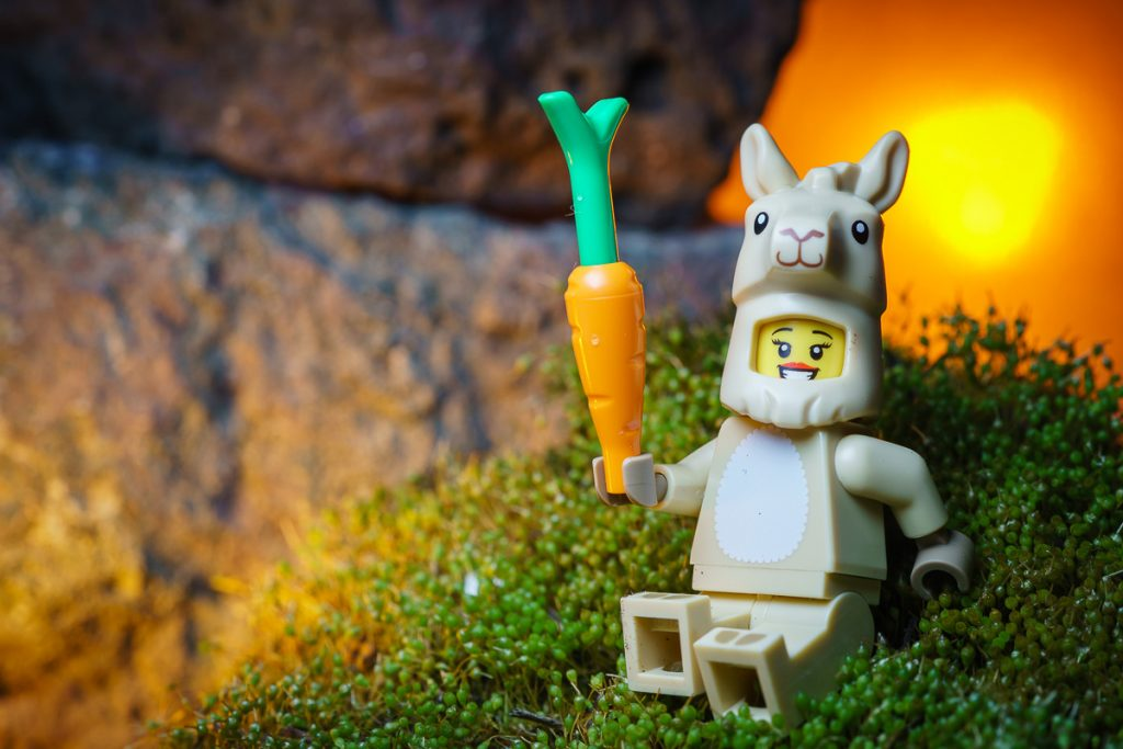 LEGO CMF Series 20 Llama Costume Girl Takes a Break