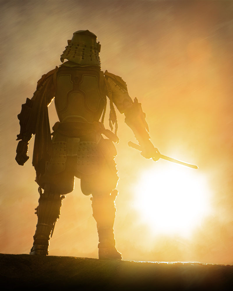 Boba Fett Samurai at sunset.