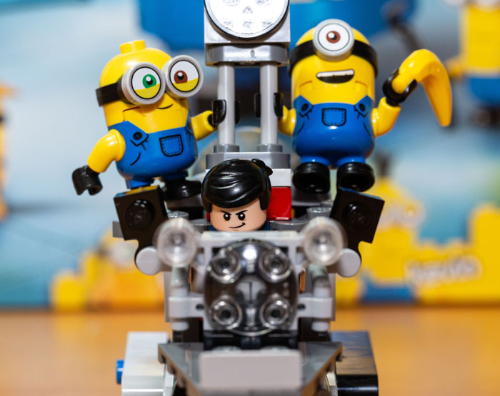 Gru and Minions on the Unstoppable Bike