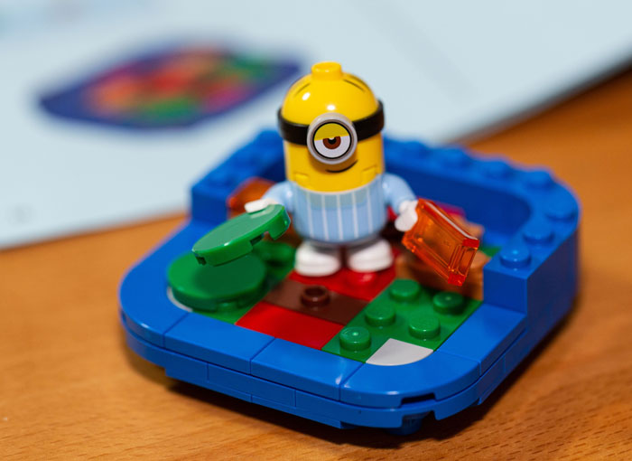 Lego Minifig minion building his Lair