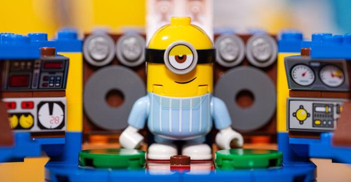 Lego Stuart Minion Minifigure in his Lair.