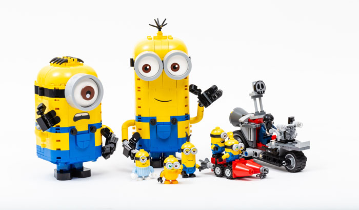 Brick-built Minions and the Unstoppable Bike