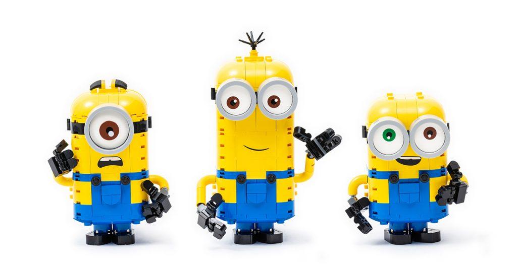 Three brick-built minions