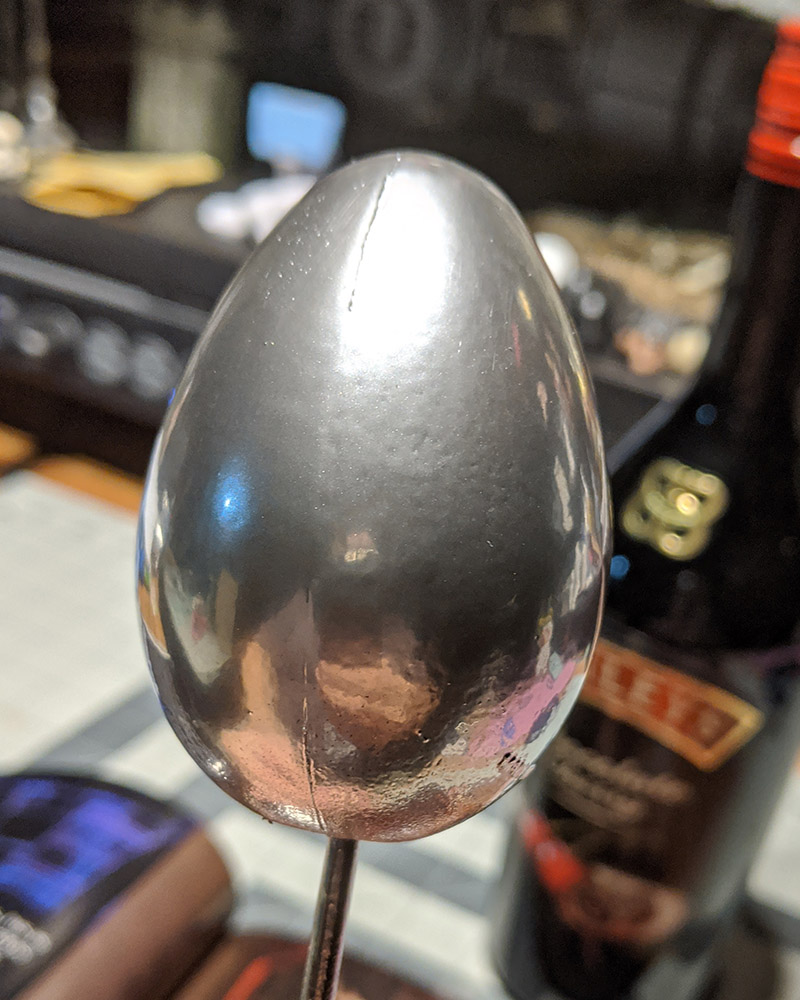 Silver egg of death to act like a bullet shot from a gun.