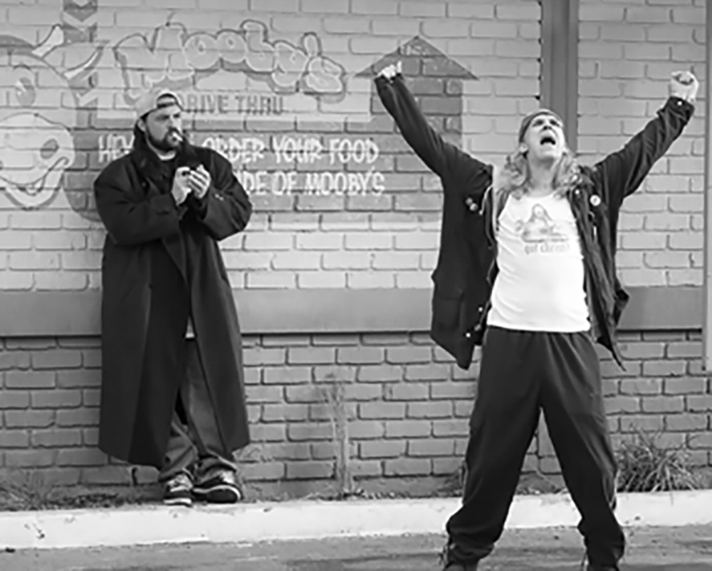 Screen capture from a Jay and Silent Bob movie.