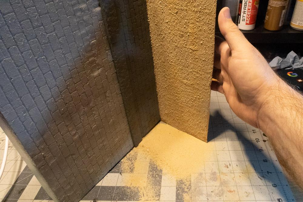 diorama: knocking sand loose