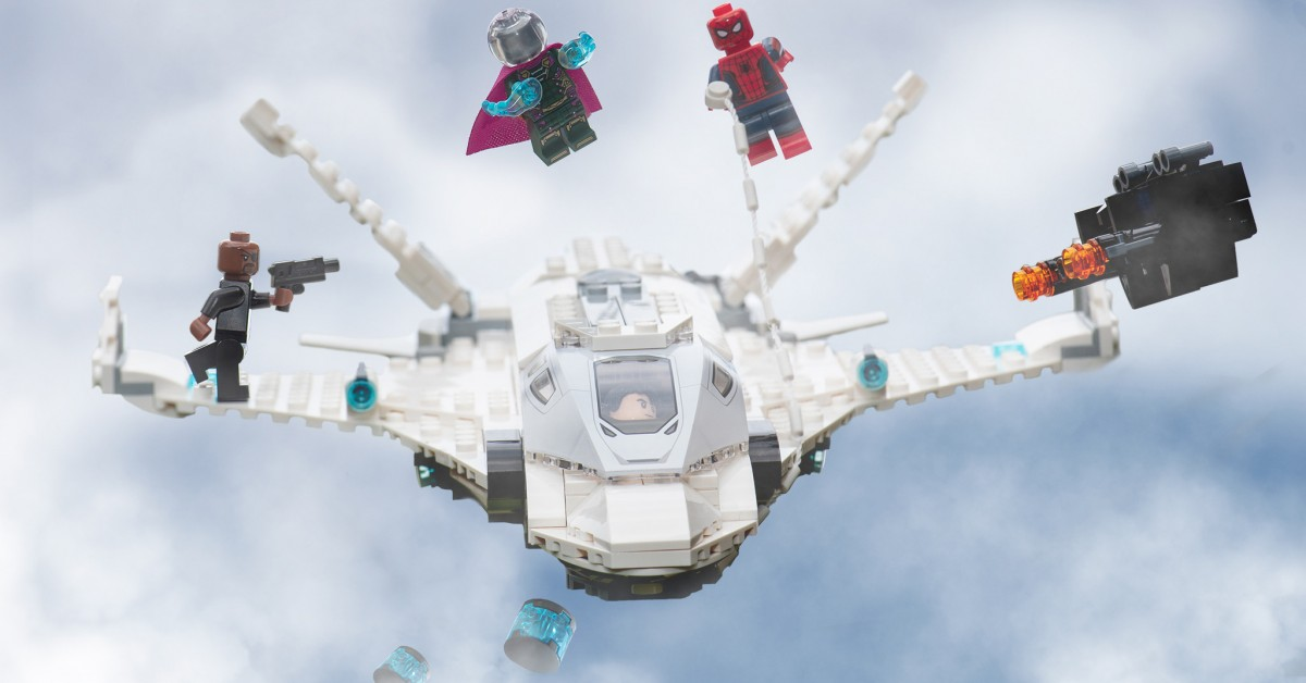 LEGO 'Spider-Man: Far from Home 'Stark Jet and the Drone Attack Review
