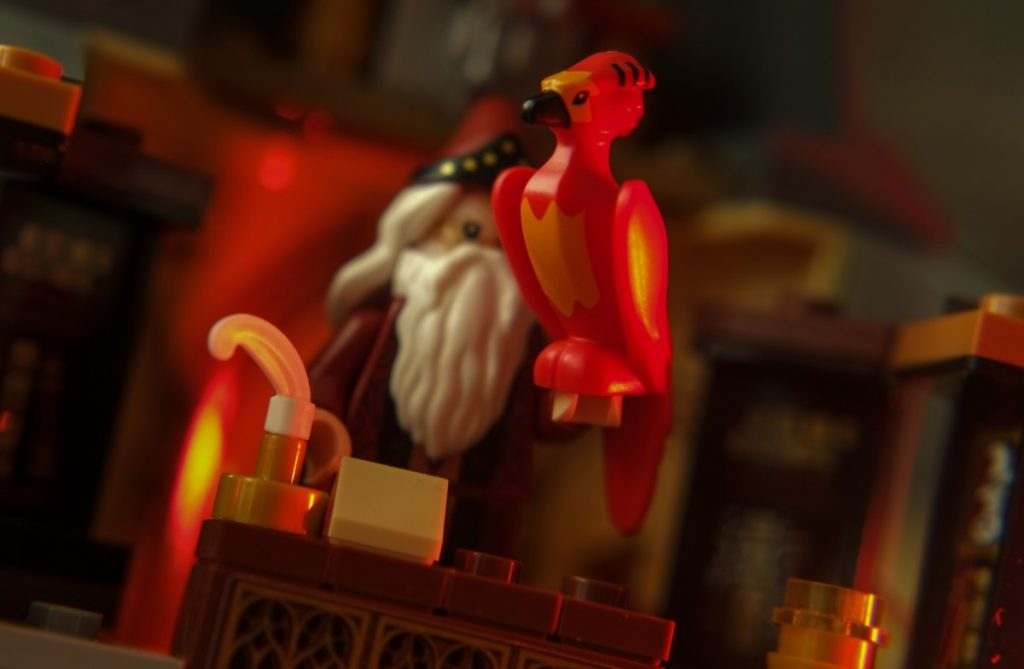 Albus Dumbledore with Fawkes