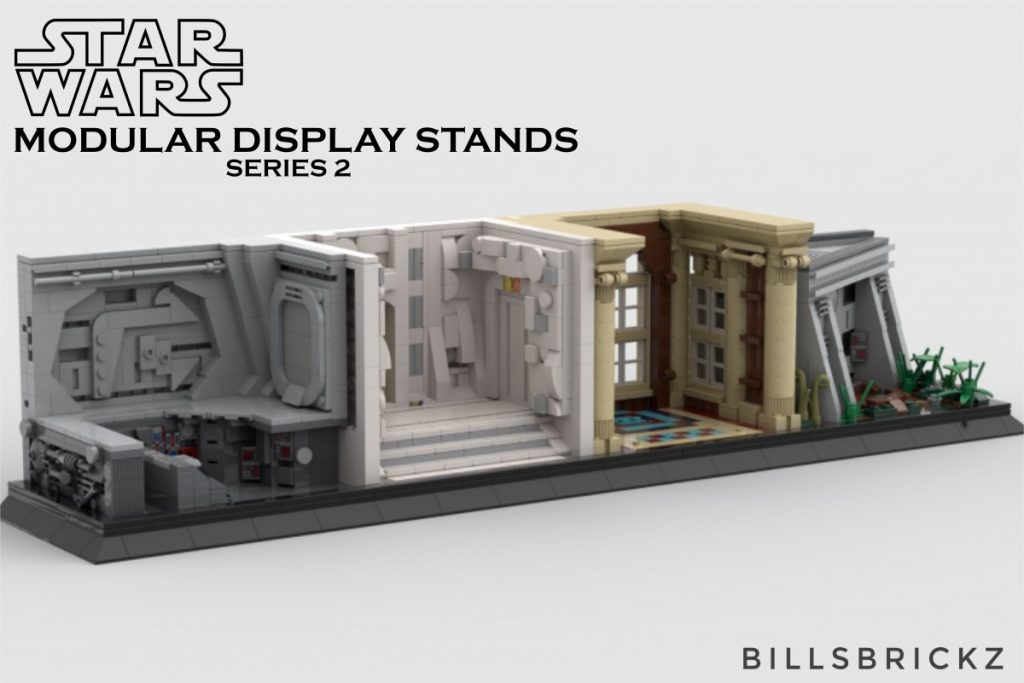 More LEGO MOC Star Wars display stands by @billsbrickz