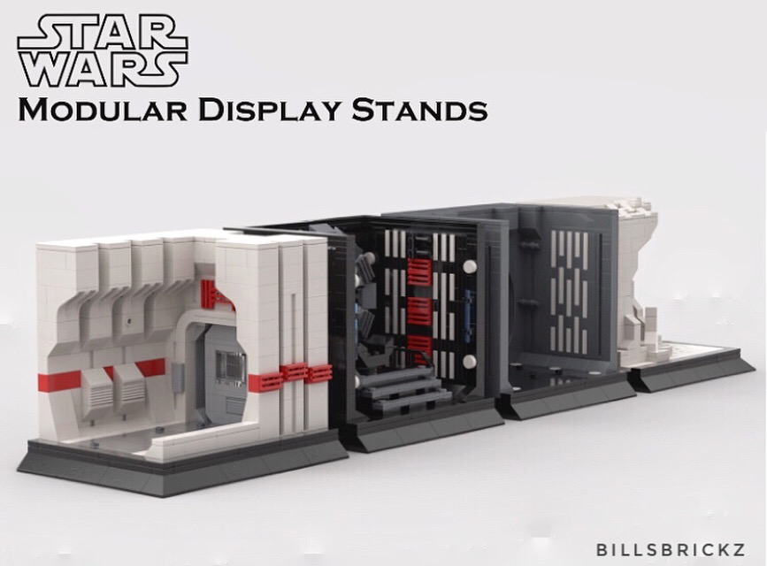 LEGO MOC Star Wars display stands by @billsbrickz