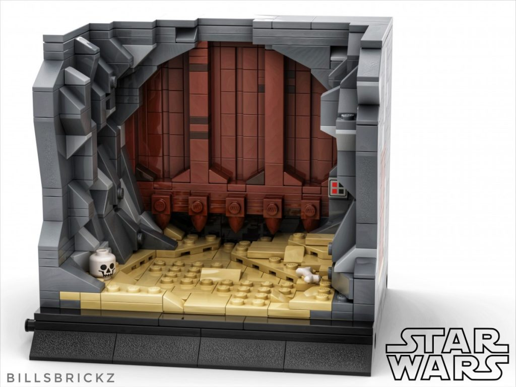 Star Wars LEGO MOC mini diorama by @billsbrickz
