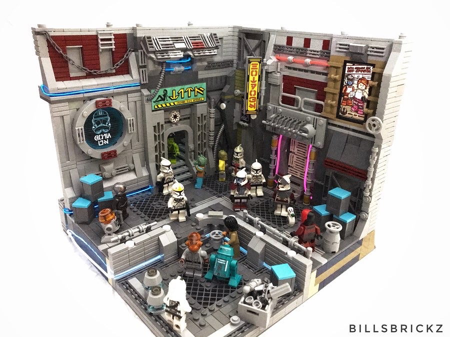 @billsbrickz most popular LEGO MOC - Coruscant Underworld