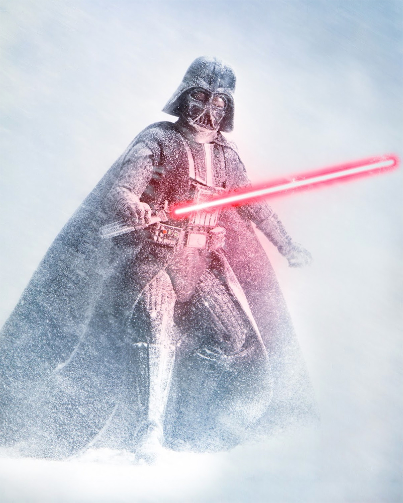 Darth Vader in the snow