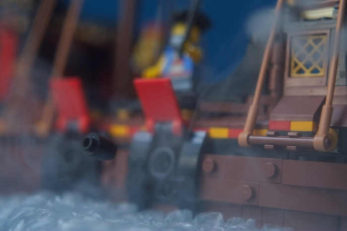 LEGO ship fires from cannon