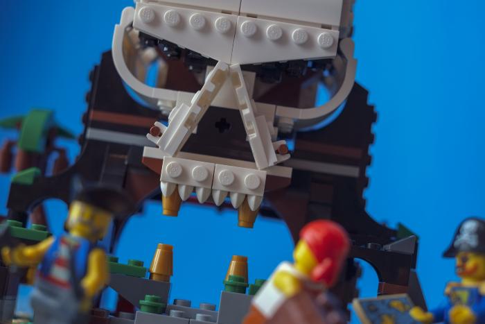 LEGO brick built skull island