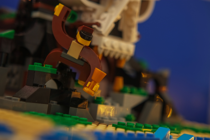 LEGO brick built orangutan on the island