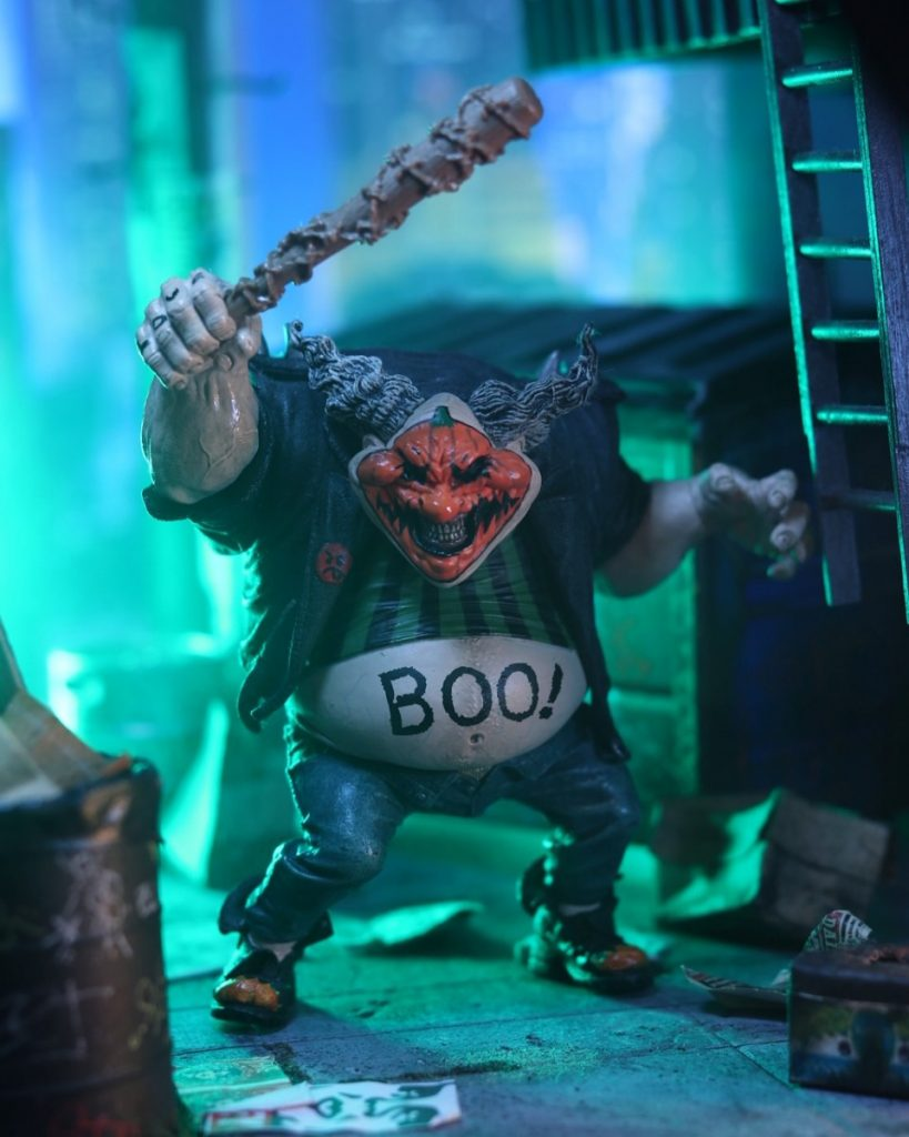 McFarlane Toys Spawn Violator clown action figure with Halloween face and BOO! belly by Carlos Mariscal @cmariscal