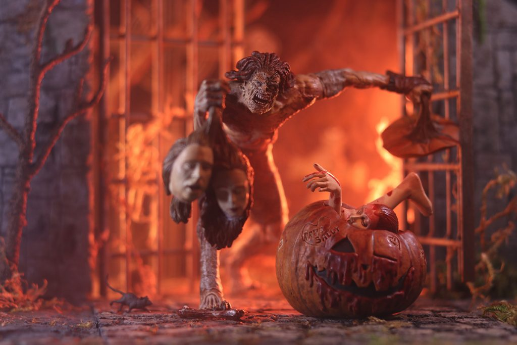 Carlos Mariscal @cmariscal McFarlane Toys Peter Peter Pumpkin Eater Halloween creep action figure and jack-o'-lantern by McFarlane Toys