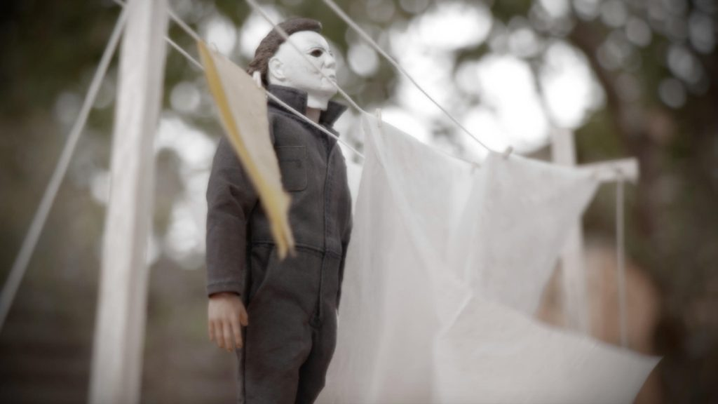 Michael Myers action figure clothesline scene by @russ_berrie Larry Cheung