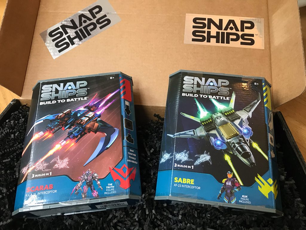 Snap Ships packaging boxes