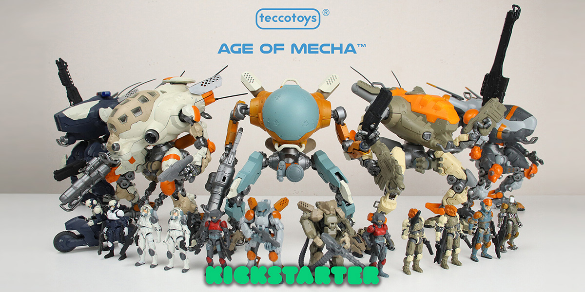 "Stellar New Sci-Fi Toy Line: ""Age of Mecha"" Kickstarter"