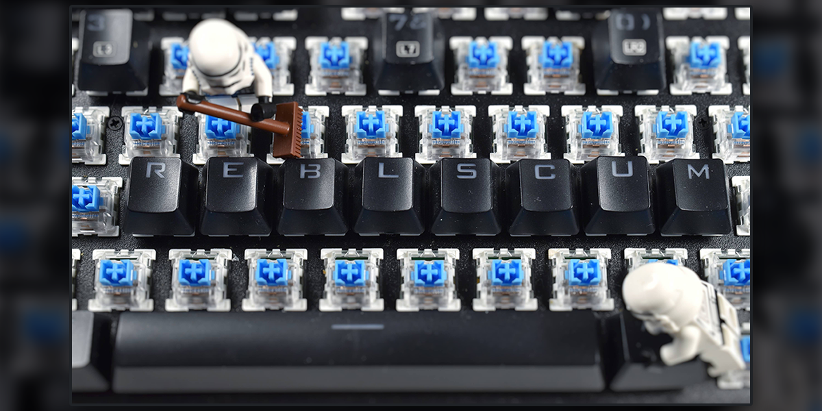 Imperial Keyboard Cleanup: A LEGO Six-Image Narrative