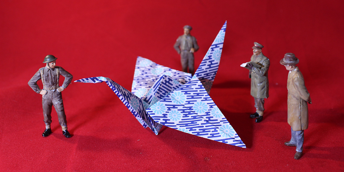 Crane: Toy Soldiers Try Origami
