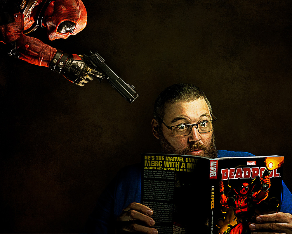 Deadpool stalking Dave