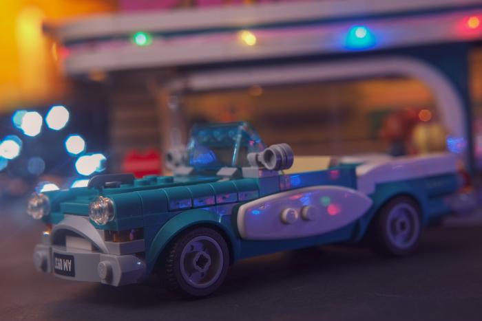 LEGO vintage turquise car