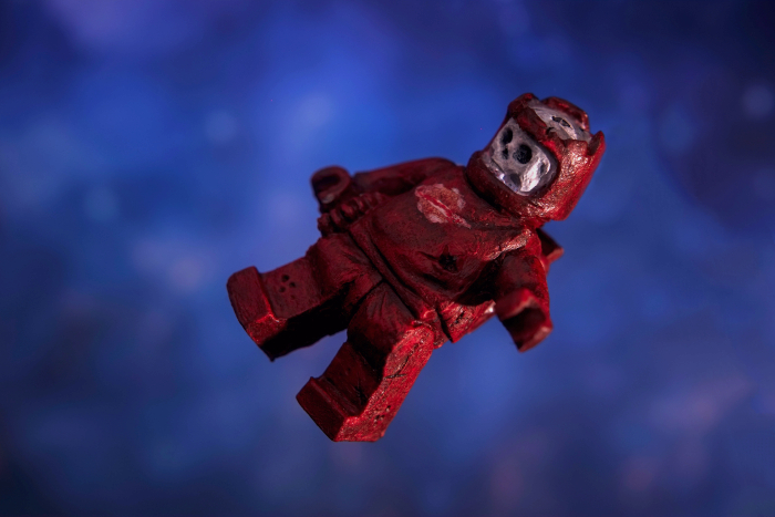 A zombie astronaut figure