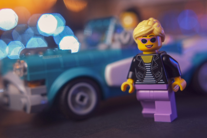 LEGO vintage tourquise car