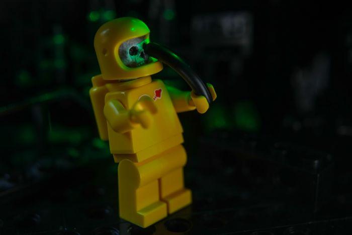 A zombie astronaut minifigure