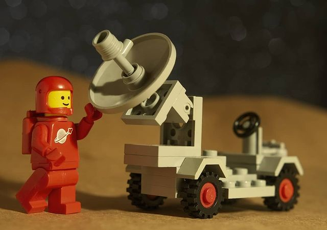 A classic space kart LEGO set with minifigure