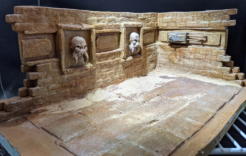 The diorama as built