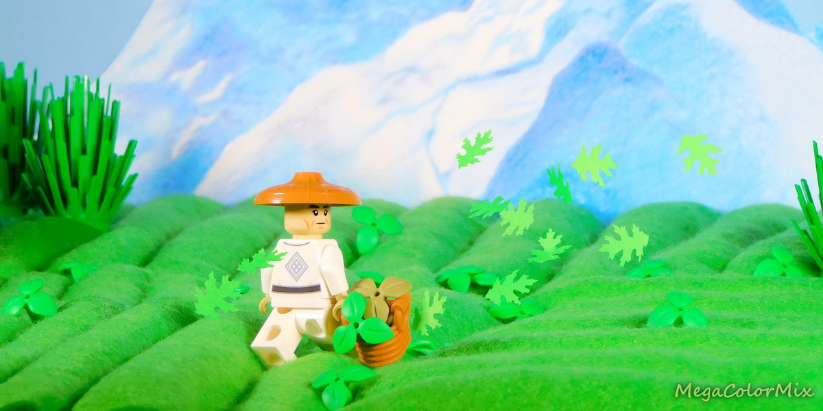 DIY Toy Photography Diorama: Tea Plantation