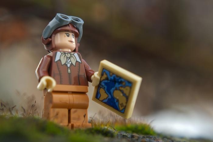 LEGO minifigure of Amelia Earhart