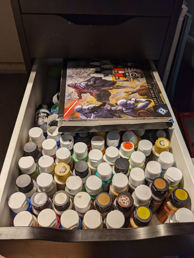 My paint drawer