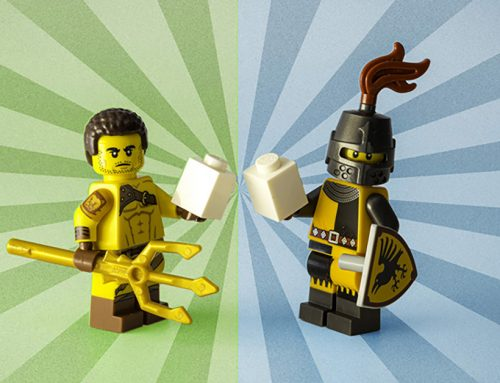 Symmetry: LEGO Minifigures Connect Through Time