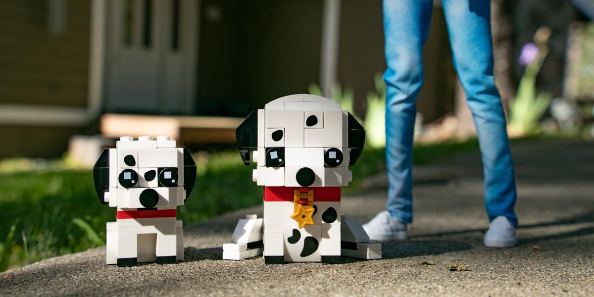 LEGO Brickheadz Pets Dalmatians 40479 set review - Teddi Deppner