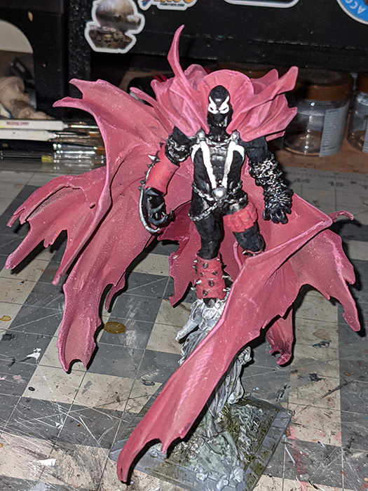 Finished Spawn figure