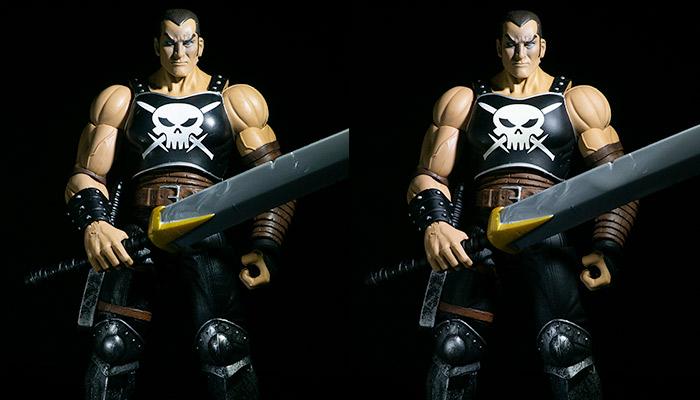 action figure clear coated comparison