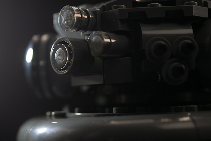 Imperial Probe Droid up close.