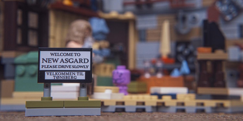 NEW ASGARD LEGO sign